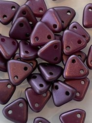 Triangle Beads 6mm Pastel Bordeaux 25032