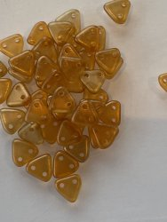 Triangle Beads 6mm Halo Sandalwood 29253