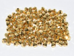 Bicone 4mm Preciosa Crystal Aurum Full 26200