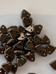 Triangle Beads 6mm Bronze 14415