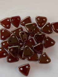 Triangle Beads 6mm Siam Ruby LJ90080