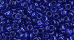 Demi round 8/0 1x3mm Transparent Lapis Blue YPS0054