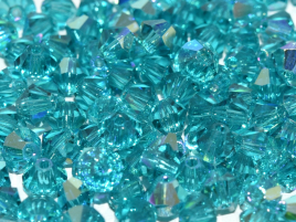 Bicone 4mm Preciosa Blue Zircon AB 60230