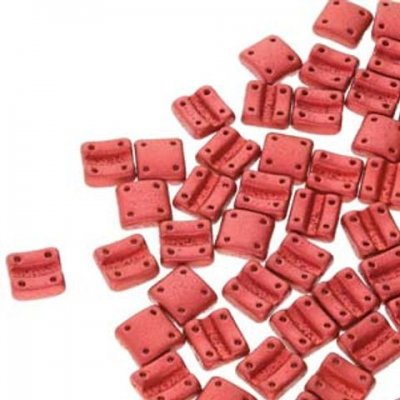 Fixer Beads Vertical Holes -Chalk Lava Red -01890 - 13st = ca 5gr