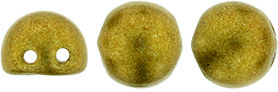 2-hole Cabochon 7mm Saturated Metallic Spicy Mustard 77052