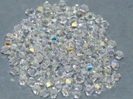 Bicone 3mm Crystal AB 20001