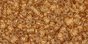 Demi 11/0 1x2mm Transparent Spicy Mustard YPS0037